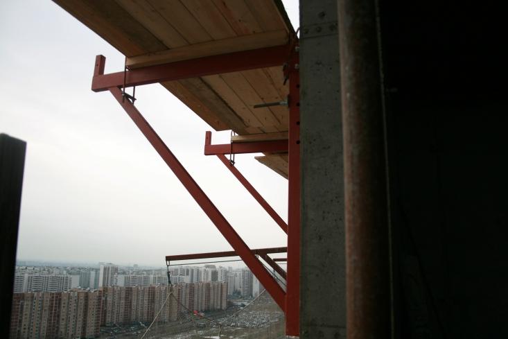 Использование системы телескопических стоек при строительстве ЖК Новокосино2