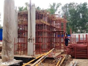 Балочно-ригельная опалубка для заливки опор моста2