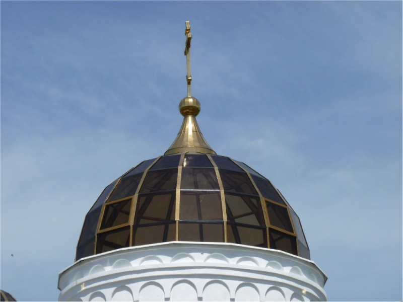 Остекленный купол церкви - бывает и так-2