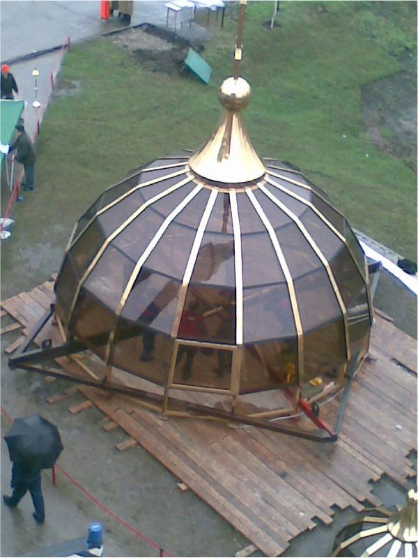 Остекленный купол церкви - бывает и так-4