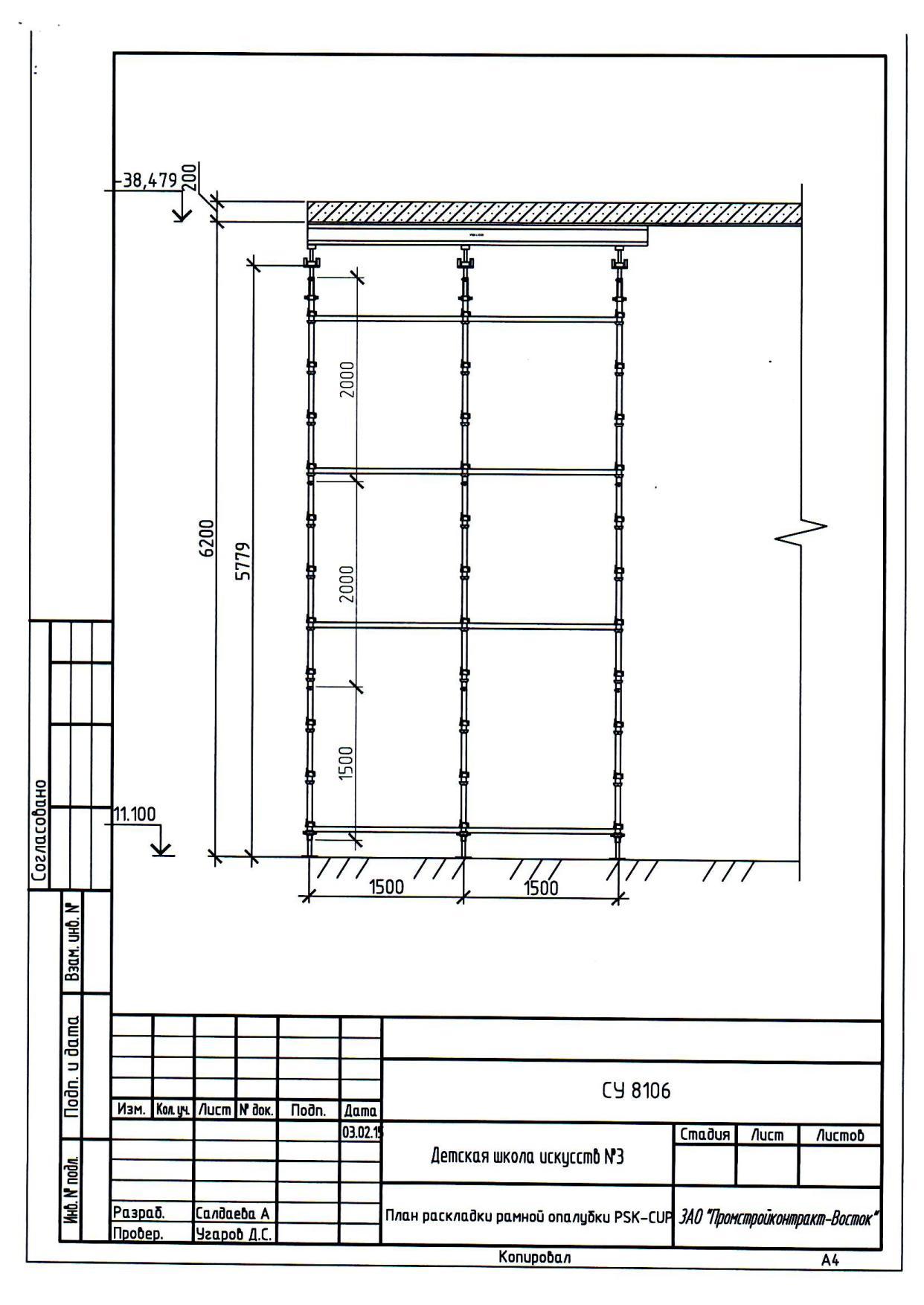 Приложение №4 План раскладки рамной опалубки (Лот №2)1