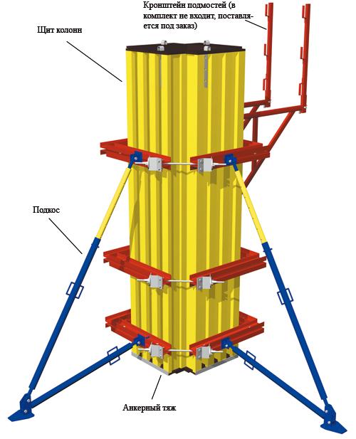 Балочно-ригельная опалубка колонн1