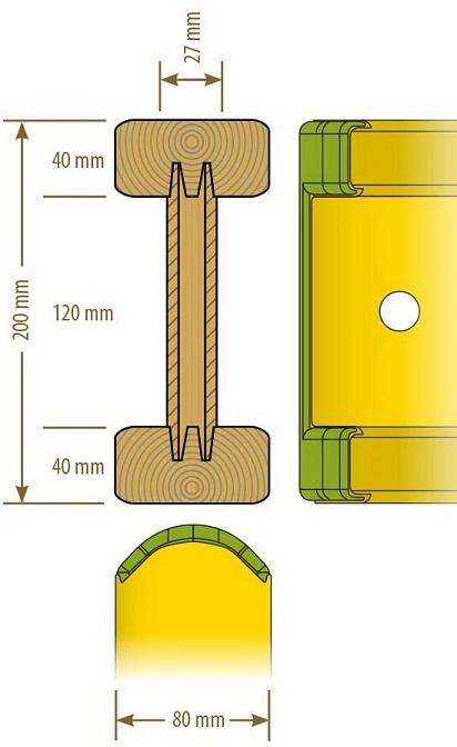Балка клееная для опалубки перекрытий