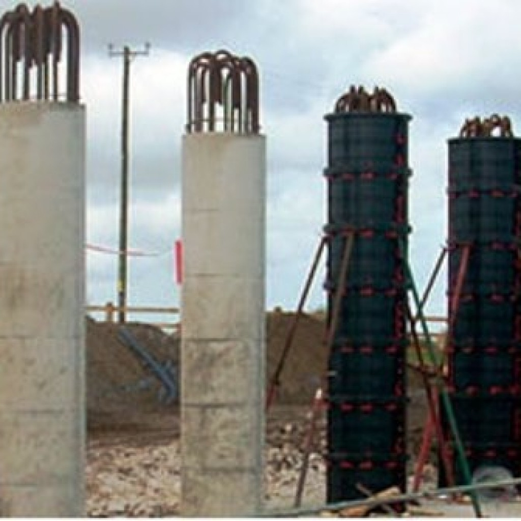Инвентарная опалубка круглых колонн