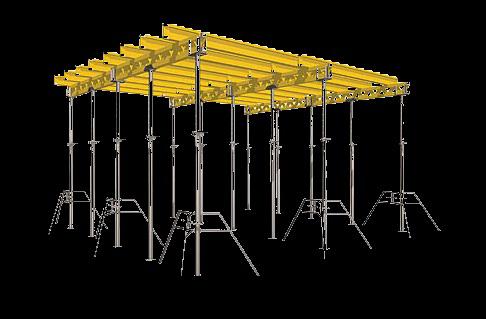 Алюминиевые и стальные телескопические стойки для опалубки — аренда, цены, где купить