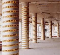 Картонная одноразовая опалубка для колонн и свай